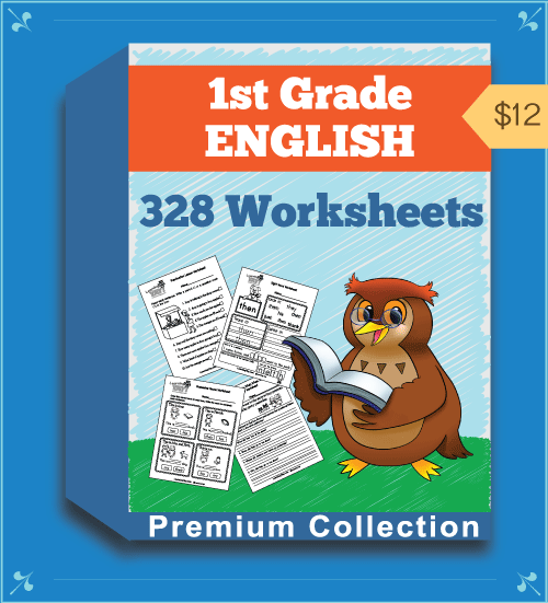 Premium First Grade English Worksheets Collection